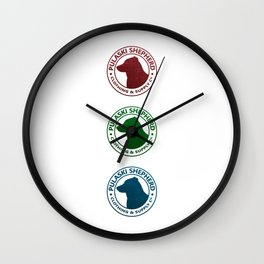 Red Green Blue Wall Clock