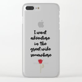 Beauty And The Beast Quote Clear iPhone Case