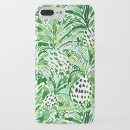 TROPICAL SITCH Green Pineapple Watercolor iPhone Case
