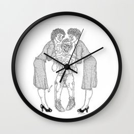 The Defamation of Normal Rockwell II (NSFW) Wall Clock