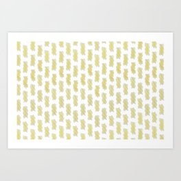 A lot of cooked spiral pasta pattern Art Print