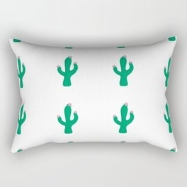 Cactus Desert Pattern Rectangular Pillow