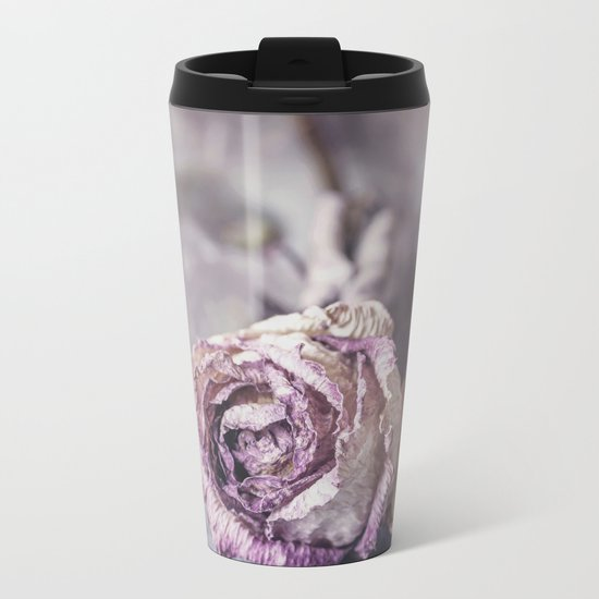 Dried Rose Metal Travel Mug
