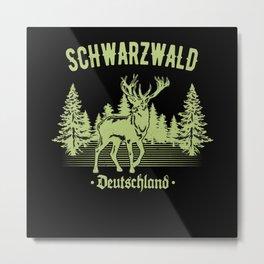 Schwabe Schwarzwald Deutschland Hirsch Schwaben Metal Print