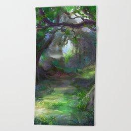 Elven Forest Beach Towel