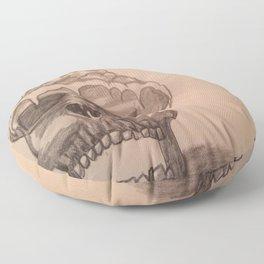 Elementary skull Floor Pillow