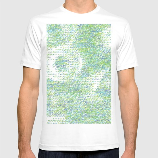 Peacock Feathers Doodle T-shirt