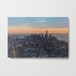 Sunset in NYC Metal Print