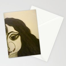 Goddess Durga in charcoal Stationery Cards