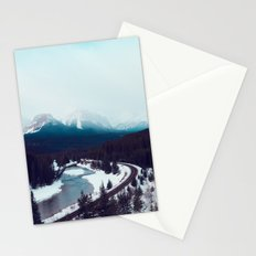 Canadian Rocky Mountains, Banff, Lake Louise, Winter Landscape Stationery Cards