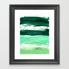 waves emerald Framed Art Print