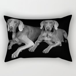 TWO WEIMARANERS Rectangular Pillow