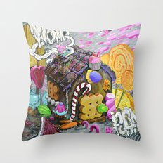 candy house Throw Pillow