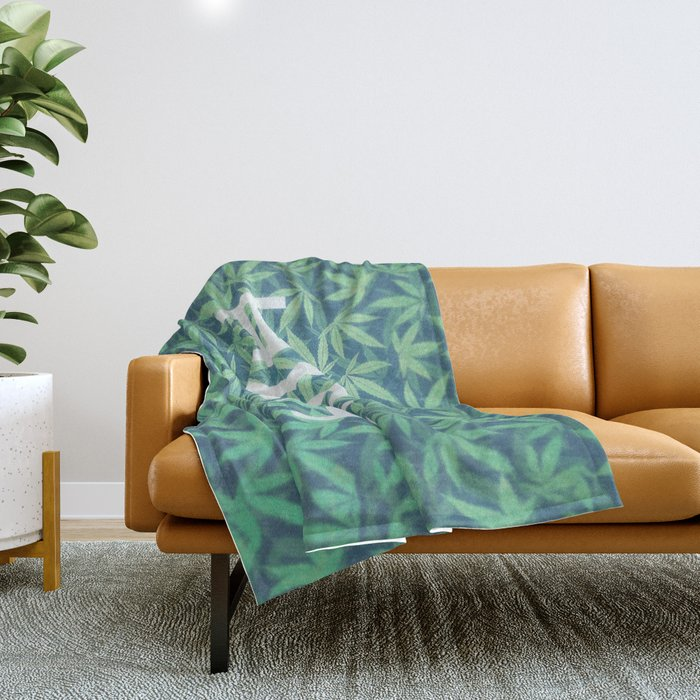 HIGH TYPO! Cannabis / Hemp / 420 / Marijuana  - Pattern Throw Blanket
