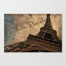 I Love Paris Canvas Print