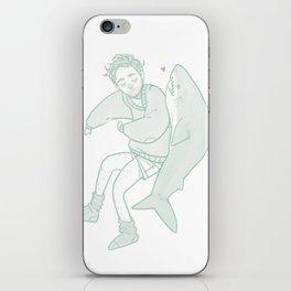 shark poop iPhone Skin