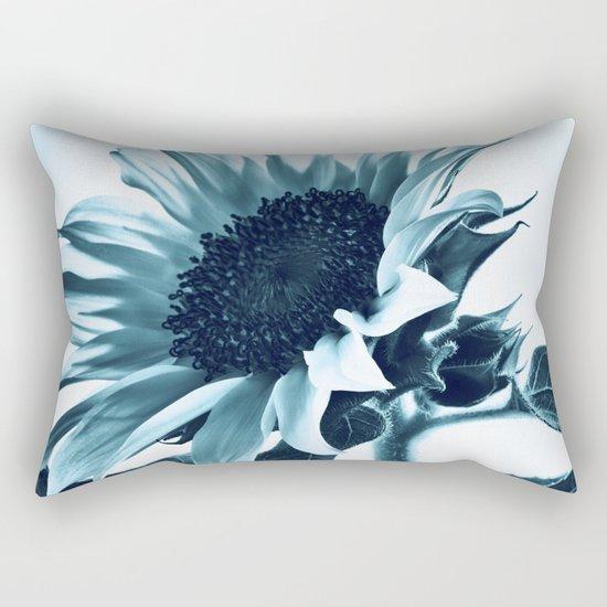 Blue Sunflower Rectangular Pillow