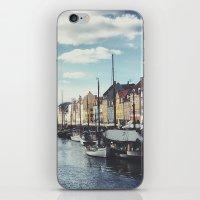 copenhagen iPhone & iPod Skins featuring Nyhavn Copenhagen by Ubersuper (Stefan Sicher)