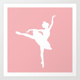 Pink and white Ballerina Art Print