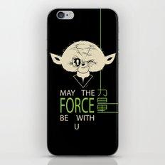 Starwars Yoda - May The Force Be With U iPhone & iPod Skin