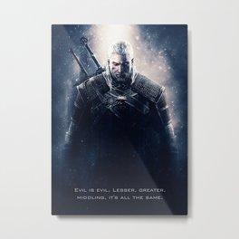 Geralt The Witcher Metal Print