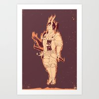 demon Art Prints featuring DEMON by andbloom