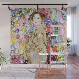 "Gustav Klimt ""Portrait of Maria Munk (unfinished)"" Wall Mural"