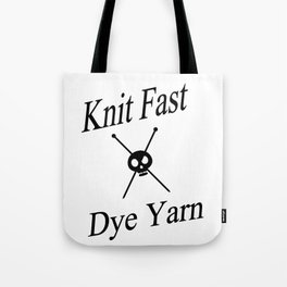 Knit Fast X Dye Yarn Tote Bag