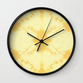 Eco Shibori Tumeric Wall Clock