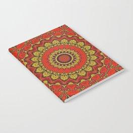 Mandala Fractal in Indian Summer 03 Notebook