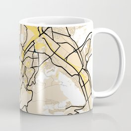 Stuttgart Yellow City Map Coffee Mug