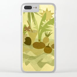 Tropical Vibes 1 Clear iPhone Case