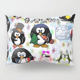 PENGUIN family for kids Pillow Sham
