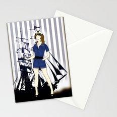 Navy Girl Stationery Cards