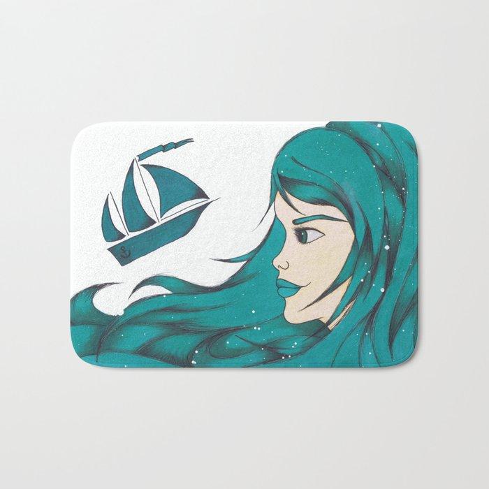 Poseidon Goddess of the Sea Bath Mat