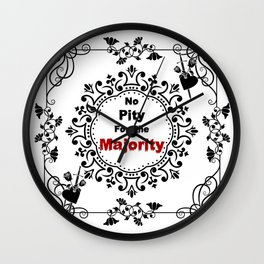 No pity for the majority - eng v2 Wall Clock