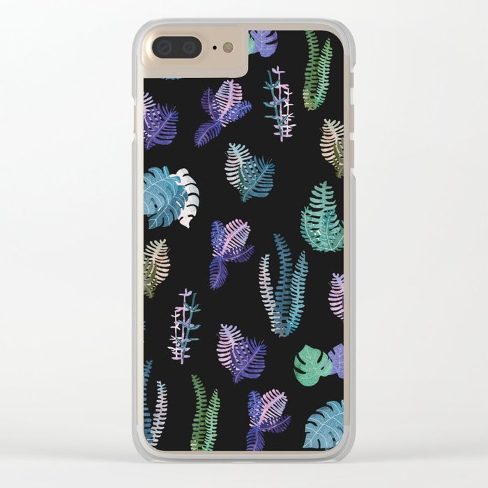 tropical at Nigth Clear iPhone Case