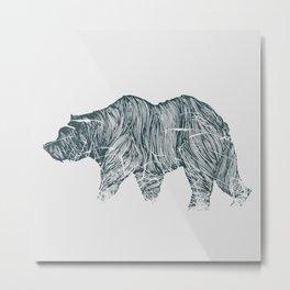 Wire Bear Metal Print