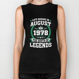 August 1978 The Birth Of Legends Biker Tank