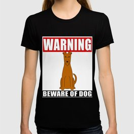 Warning Irish Terrier Beware Of Dog T-shirt