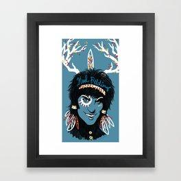 Blue Diamonds Framed Art Print