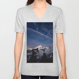 Mount Baker - Nature Photography Unisex V-Neck