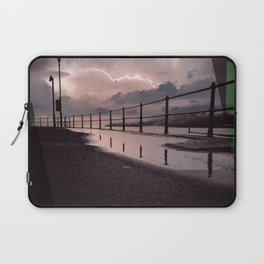 Lightening Strikes - Green Graphic Laptop Sleeve