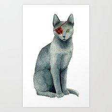 Pirate cat Art Print
