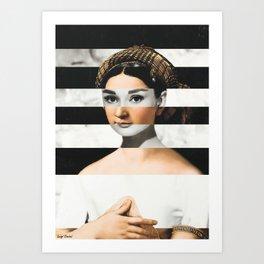Raphael's La Fornarina & Audrey Hepburn Art Print
