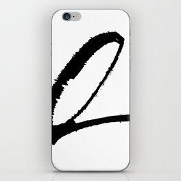 Letter Q Ink Monogram iPhone Skin