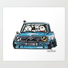 Crazy Car Art 0144 Art Print