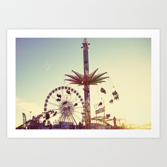 Golden Hour at the Carnival Art Print