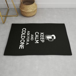 Keep Calm-Cold One-Beer-Humor-Drinking Rug