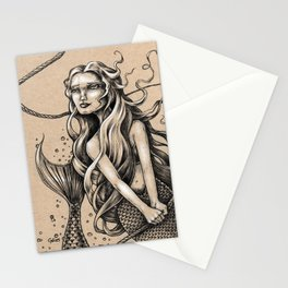 Mermaid with Rope Stationery Cards